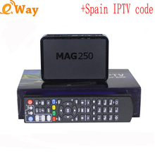 MAG250 OTT Linux TV Box with One year IPTV Arabic&Europe French/spanish/Italy/UK/860+ TV channel 860+ Mag 250 media player