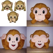 Emoji Pillow For Whatsapp,Toys & Hobbies,Stuffed Animals & Plush Monkey Toy,Stuffed & Plush Animals Pillow, Emoji Monkey Cushion(China)