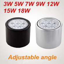 Surface mounted ceiling lamps led light  LED 3W 5W 7W 9W 12W 15W 18W angle adjustable spotlights power supply and light source