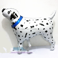 2pcs/Lot, Free Shipping, Dalmatian Pet Walking Animals Dog Balloons polka dot Mylar Balloons, Baby's toy, Party Decoration gift
