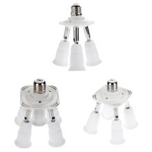 Adjustable 5 in 1 E27 Base Light Lamp Bulb 90V-240V Base Socket Adapter Lamp 90V-240V Holder Converte high quality(China)