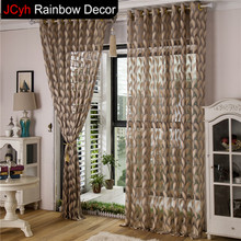 JRD Leaves Lace Sheer Tulle Curtains Living Room Door Window Curtains For Bedroom Kitchen Pastoral Voile Curtain Fabric Drapes(China)