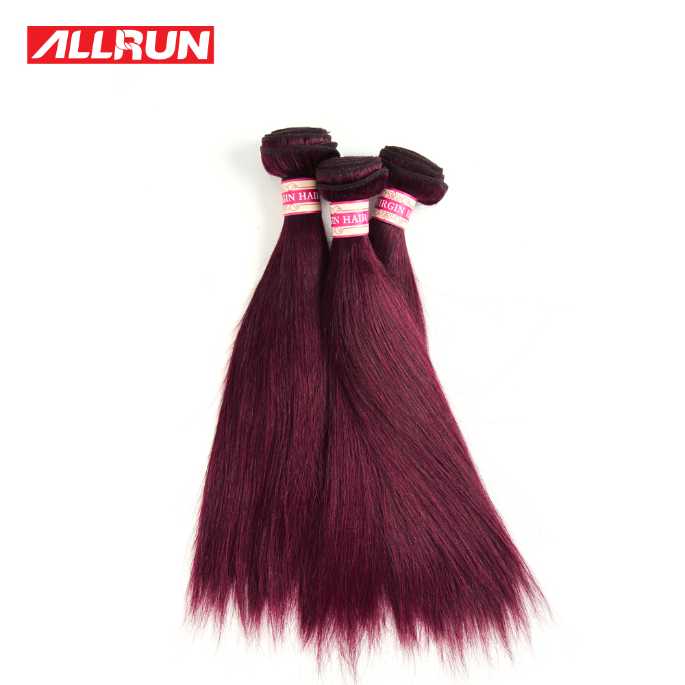 Brazilian Hair Extensions Colored Human Hair Weave 99j Brazilian Straight Virgin Hair 3Pcs Unprocessed Brazilian Virgin Hair<br><br>Aliexpress