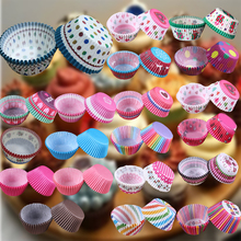Beatiful 100 pcs/lot Cooking Tools Grease-proof Paper Cup Cake Liners Baking Cup Muffin Kitchen Cupcake Cases Cake Mold(China)