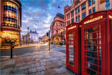 New Arrive London Red telephone boxes  Poster Customized 27x40 Cm  Room Wall Posters As Gift #-,EW822