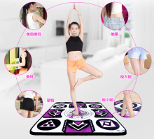 KL English menu 11 mm thickness single dance pad Non-Slip Pad yoga mat sense game for PC & TV