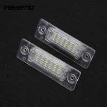 Vehemo Car-styling 2XCar Vehicle 18 LED License Plate Light Lamp No Error For Touran Passat(China)