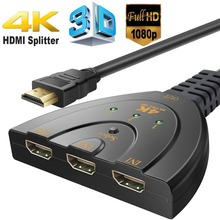 3 Input to 1 Output HDMI Switcher 3 Port HDMI Adapter Supports 4K HDMI Port for Projector,DVD Player,Multimedia,TV(China)