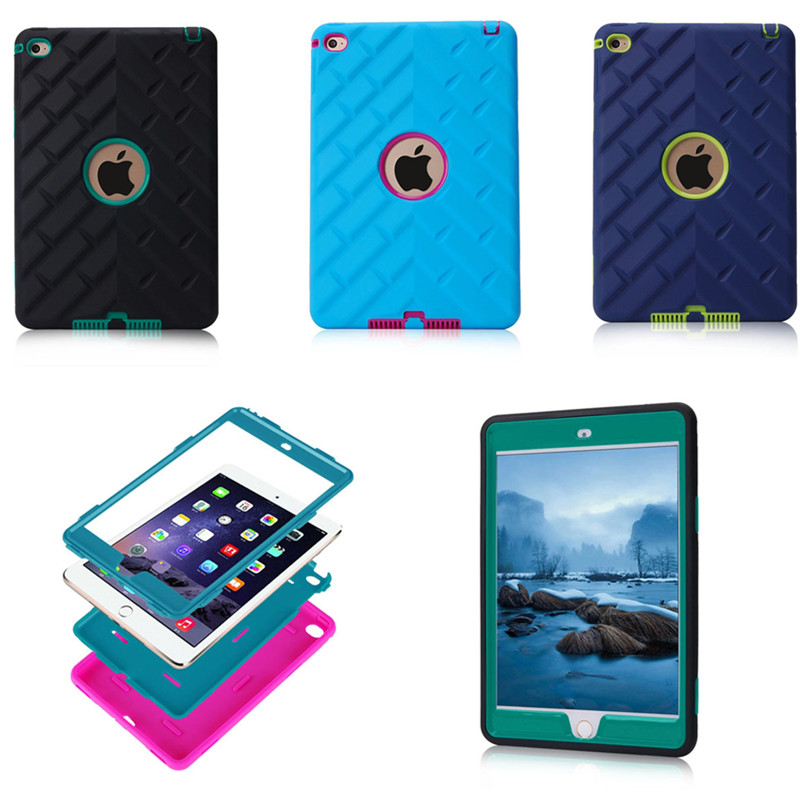 LD Luxury Armor Case For Apple Ipad Mini 4  Heavy Duty Kids Cover Shock Proof Silicone Hard PC Back Case For ipad mini4 Tablet <br><br>Aliexpress
