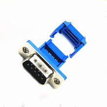 DB9 male plug connector jack Pressure wire type Crimp type Serial port 9pin RS232 connector