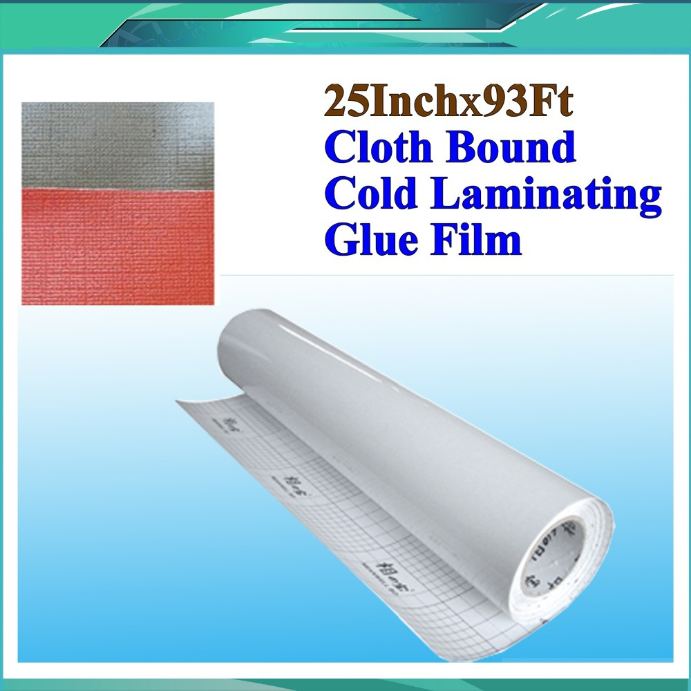 Cloth Bound Cold Roll Laminating Film 25 inch X 28 yards, Special for Advanced Photo Poster One Roll Cold Laminating Film<br>