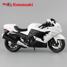 Hot Maisto brand children mini kawasaki ninja ZX 14R metal diecast models bike motorcycle race toy cars alloy white gift for kid