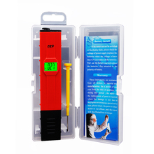 BY DHL FEDEX 20pcs/lot LCD Digitail backlight Pocket Pen Type PH Meter Analyzer Portable PH ORP Tester(China)
