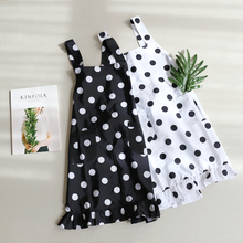 Modern Fashion White Black Dot Fishtail Edge Romantic Waterproof Kitchen Cooking Baking Love Apron