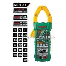 MASTECH MS2115B Digital AC/DC Clamp Meter with 6000 Counts NCV True RMS AC/DC Voltage Current Tester Detector with USB(China)