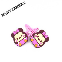 1Pair Kawaii Cartoon Micky Minnie Daisy CHIP & DALE Hair Clip Girls Children Hair Accessories Clip Hair Pins Kids Hair Ornament(China)
