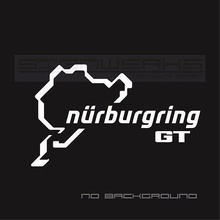 Car Styling for 2Pcs/Pair GT Nurburgring Decal Sticker logo emblem ford GT mustang F150 Pair