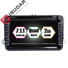 Android 7.1.1 2 Din 8 Inch Car DVD Player For VW/Volkswagen/Passat/POLO/GOLF/Skoda/Seat/Leon 2GB RAM WIFI GPS Navigation Radio