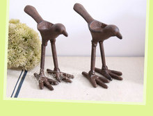 1pc Cast iron bird candlestick retro iron Decoration Cafe bar candlelight decoration outdoor gardening groceries