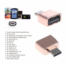 USB Female to USB-C Type C 3.1 OTG Male Data Adapter For Samsung S8 LG G6 G5 V20 OnePlus 2 3 Huawei P9 P10 Plus mate 9 V8 V9