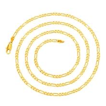 Classic Men 2mm*60cm Gold-color Italy Figaro Chain Necklace Jewelry