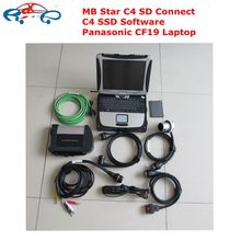 mb star c4 sd connect diagnostic tool with laptop mb star c4 sd connect software V2017.09 ssd multi-languages CF19 laptop(China)