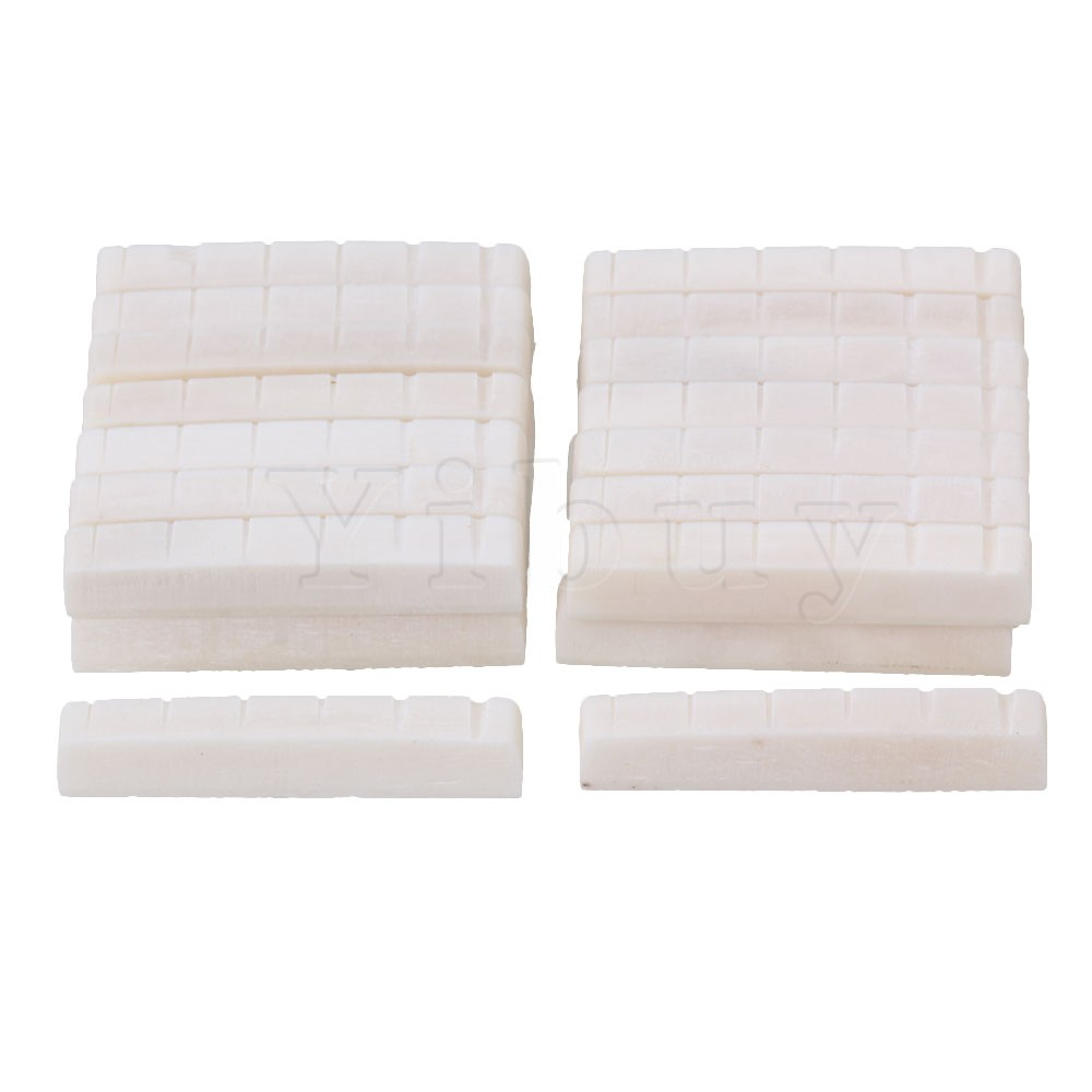 Yibuy 30pcs White 6 String Guitar Bone Nut Slotted for Electric Guitar <br><br>Aliexpress