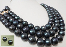 AAA+3 ROW 9-10MM TAHITIAN BLACK NATURAL PEARL NECKLACE earring-49.jpg