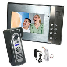 "Home 7"" Color TFT LCD Monitor Video Door phone Doorbell Intercom System Kit IR Waterproof Camera with 5M Cable(China)"