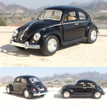 High simulation Retro Classic 1:36 Volkswagen Beetle Alloy Car Model Metal Die cast With Pull Back Toy Vehicles Free Shipping(China)