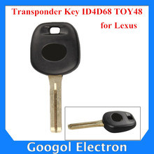 For Lexus Transponder Key ID4D68 TOY48 (Short) for Lexus Key Shell  ID 4D68 5pcs/lot