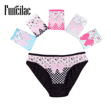 Buy FUNCILAC Women Underwear Cotton Sexy Panties Solid Lace Lift Hips Everyday Girls Briefs Ladies Knickers Lingerie 6 pcs/Lot