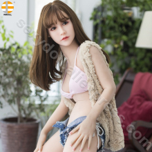 Buy WMDOLL 145cm C cup small breast Adult Japanese silicone sex doll men Asian oral head real Sexual Vagina Pussy Anal TPE