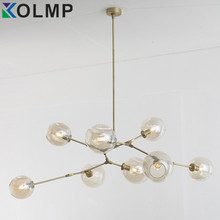 3/5/7/8/9/11 heads Glass ball branching Drop Hanging Light Modern Glass Bottle Chandelier Light for kitchen/living room/office