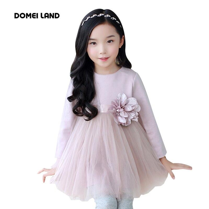 2017 Fashion Brand DOMEI LAND Children Clothes cute cotton ruffles Flowers tutu dress Princess dress Kid Party clothing<br><br>Aliexpress