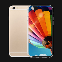 Rainbow Hot Air Balloon 6 Choices For iPhone 6 6s 7 Plus Case TPU Phone Cases Cover Mobile Protection Decoration Gift