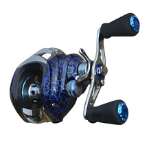 Aluminum Alloy Spinning Wheel Leopard Blue Fishing Reels Outdoor Fishing Tools Left / Right Hand Wheel Super Magnetic Brake(China)