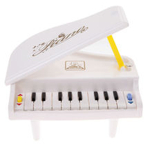 Mini Simulation Piano Toy Pre-school Music Instrument Toy White 11 Scale Musical Piano Toy Early Childhood Educational