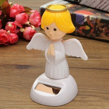 New Arrival Solar Toys Plastic ABS Dancing Fun Angel Flip Flap Powered Toys For Desk Home Ornaments Decor Toys(China)