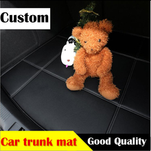 custom car trunk mat leather for Ford fiesta focus mondeo kuga eco sport edge car-styling travel camping carpet cargo liner(China)