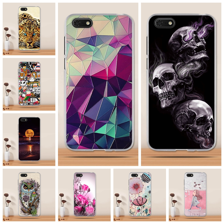 For Huawei Y5 2018 Case Cover Silicone Funda for huawei Honor 7s Case Coque Soft TPU 3D Back Cover For Huawei Y5 2018 Phone Case