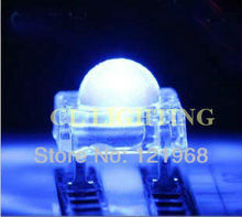 High quality Blue 5mm dip led 4-pin piranha diode 3.0-3.5V high flux led 200pcs free shipping