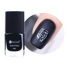 UR SUGAR 6ml Black Matte Dull Nail Polish Lusterless Manicure Nail Art Lacquer Varnish Polish