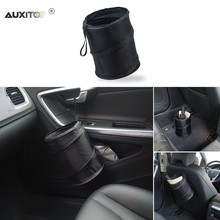 AUXITO Car Trash Can For Jeep Land Rover Volvo Seat Subaru Alfa Romeo Dodge Lexus Mini Infiniti Chrysler Smart Saab Accessories(China)