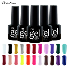 Verntion Manicure Service Semi Permanent Gel Paint UV 24 Colors Lucky Soak Off 8ml Lacquer UV Nail Gel Polish Set(China)