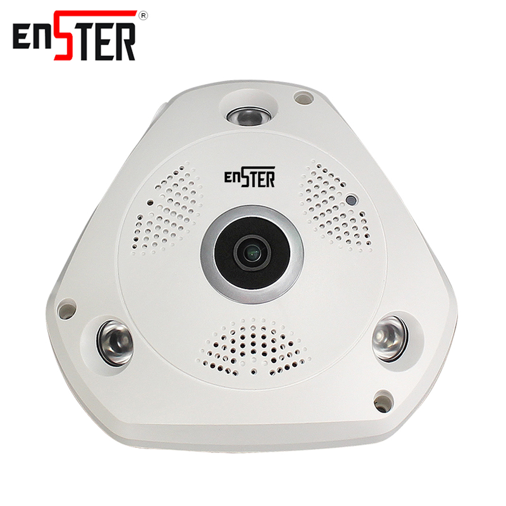 Enster 1.3 MP wireless IP camera 960P HD baby monitor cameras video surveillance 360 degree VR wi-fi security camera speaker<br>