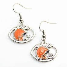 New fashion 5Pairs/lot Enameled  Cleveland Browns Football Sport Team Logo Drop Earrings