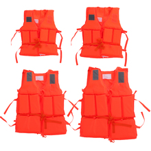 Kids Adult Plus Size Life Vest With Survival Whistle Water Sports Foam Life Jacket For Drifting Boating Water Ski Surfing(China)