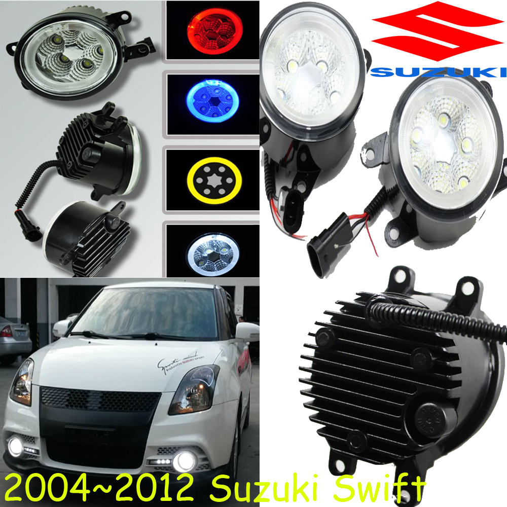 Car-styling,Swift daytime lamp,2004~2016,chrome,LED,Free ship!2pcs,sx4 fog lamp,sx 4,car-detector;Option:Red,white,blue,yellow<br>