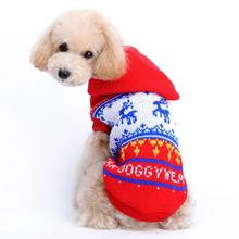 Attractive Mordern Durable Christmas Pet Dog Red Deer Pet Sweater with Hood Warm Cute Sweater Clothes Dog Clothes Winter Abrigo